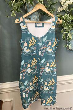Cute Women's Dress, bird dress, bird pattern  #bird #birdpattern #dress #clothing #woman #women #cutedress