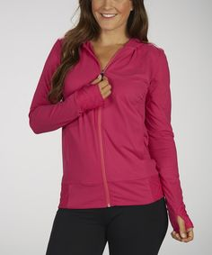 Take a look at this Wild Berry Artificial Hoodie Jacket by Marika on #zulily today!