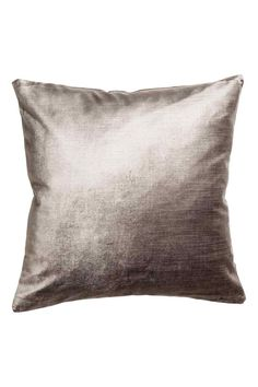 Velvet cushion cover: Velvet cushion cover in a cotton blend with a concealed zip.