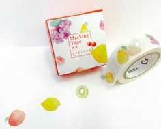Summer Fruit Paper Washi Tape Scrapbooking by PlayingWithColor2