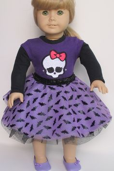 Monster High And Bat Outfit For 18 Inch Dolls - pinned by pin4etsy.com