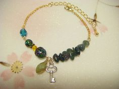 Dark green bracelet green bracelet with moss agate by Coloramelody