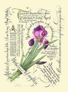 Iris and calligraphy …
