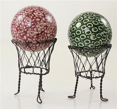 "2 CARPET BALLS ON DISPLAYS, 2.75""D - by Apple Tree Auction Center"