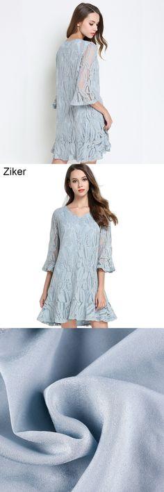 2008b99fc8 Ziker New 2017 Fashion Summer Lace Dresses Women Sexy V-Neck Half Sleeve  Plus Size Dress