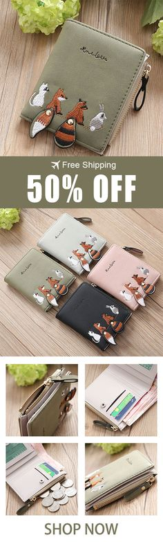 Would make a wonderful gift for an animal-loving friend, the little drop down tails are delightful. Highly recommended.UP to 50%,Don't miss the big deal today!#gifts#animal#wallet Deal Today, Things To Buy, Diy Gifts, Great Gifts, Purse Wallet, Fox Purse, Christmas Presents, Christmas Cards, Christmas Stuff