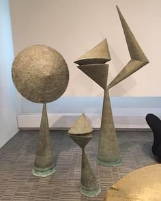 """20cmodern: """" """"Stopped by Wright NY to check out the Design Masterworks exhibition. Seeing a lot of great Bertoia on this trip but these are my favorite. Stemmons Towers International Sculpture Garden - Dallas - 1964. #Bertoia #harrybertoia..."""