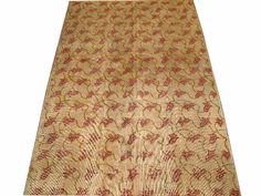 ww.aksaraycarpet.com #carpet #rug #rugs #vintage #overdyed #patchwork #homedecoration #decor #interiordesign #etsy #allover #tulip #flower Turkish Vintage Rug With Tulip Design 96 x 63 inch