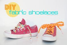 Make your own Fabric Shoelaces