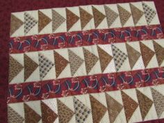 Flying Geese Quilt Pattern. This quilt was purchased by Kristin Holt, photographed, and those photographs used for the book cover of PLEASANCE'S FIRST LOVE   A Double-Topped Quilt: Remembering a Love of a Lifetime – Kristin Holt