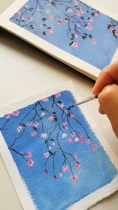 Mini Canvas Art, Easy Canvas Art, Simple Canvas Paintings, Small Canvas Art, Easy Paintings, Gouache Painting, Diy Painting, Watercolor Paintings, Watercolor Art Lessons