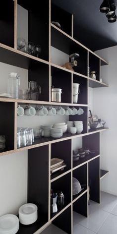 I like the idea of having open shelves to display beautiful cutlery and crockery.