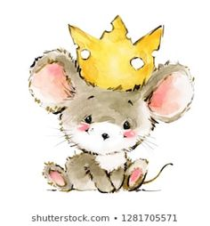 Find Cartoon Mouse Watercolor Illustration Cute Mice stock images in HD and millions of other royalty-free stock photos, illustrations and vectors in the Shutterstock collection. Maus Illustration, Cute Animal Illustration, Cute Animal Drawings, Watercolor Illustration, Cute Drawings, Illustrations, Image Clipart, Art Clipart, Cartoon Cartoon