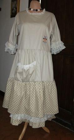 ensemble ,robe et jupon shabby chic r… | boho mori lagenlook 2 ...