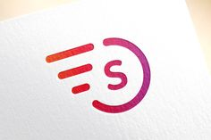 Fast line S letter circle logo icon by Vector-Stock on Creative Market