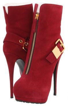 "Giuseppe Zanotti I27136-Red  => SOURCE: @Iris Loos White Hamilton ""Walking in Style .ME"" Board via."