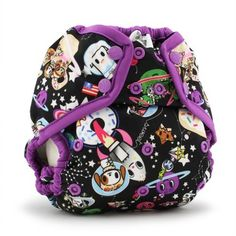 tokidoki x Kanga Care Rumparooz Cloth Diaper Cover - tokiSpace (Orchid trim) Preemie Diapers, Prefold Diapers, Cloth Diapers, Cloth Diaper Covers, Wet Bag, New Years Sales, Baby Boutique, New Parents, Baby Wearing