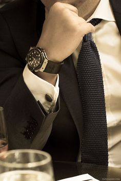 Mens suit #knitnecktie#timepiece