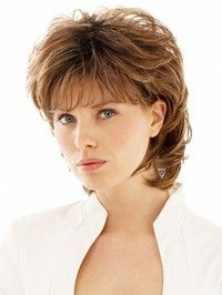 Natural Brown Hair Full Wig Short Curly Wigs for Women Fashion Hair Accessories Wigs for Ladies Short Wavy Wigs Heat Resistant Fiber Hair Synthetic Wigs Costume Party Daily Wear Hair Replacement Wigs with Bangs Short Hair With Layers, Layered Hair, Short Hair Cuts, Pixie Cuts, Hair Styles For Women Over 50, Medium Hair Styles, Curly Hair Styles, Pixie Styles, Shag Hairstyles