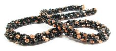 Black and Copper Necklace by kiddercreations on Etsy, $55.00