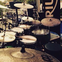 This beautiful Meinl Cymbals set up belongs to Gino Banks !!
