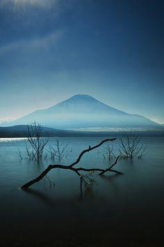 Mount Fuji, Lake Yamanaka, Yamanashi, Japan