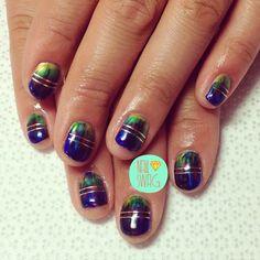 THE METALLIC FADE NAIL for @mizzchoi! #nailswag #nails #nailartclub #swag #gelnail #LA