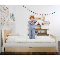 Modern kid bed with trundle