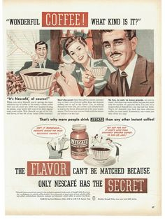 1947 Nescafe Instant Coffee Advertisement