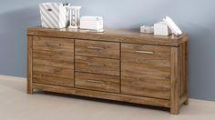 Modern robuust dressoir Rustico bestaande uit drie laden en twee deuren voorzien van soft-close systeem