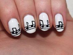 Visual result related to nail polish designs Music Note Nails, Music Nail Art, Music Nails, Nail Polish Designs, Nail Art Designs, Fun Nails, Pretty Nails, Best Nail Polish, Hair And Nails