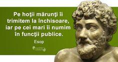 Top 10 Citate Celebre True Words, Funny Quotes, Self, Wisdom, Statue, Romania, Motivational, Google, Aesop