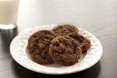 Triple Chocolate Chocolate Chip Cookies - Rocco DiSpirito Now Eat This on Dr. uses cannellini beans! Chocolate Cookie Recipes, Chocolate Chip Cookies, Chocolate Chocolate, Healthy Chocolate, Chocolate Covered, Healthy Cookies, Healthy Desserts, Healthy Recipes, Yummy Cookies