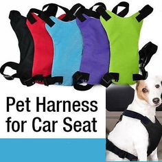 Dog Harness, Car Seat Harness, Secure Travel Dog, 100% Hemp and Beyond Dog Collars