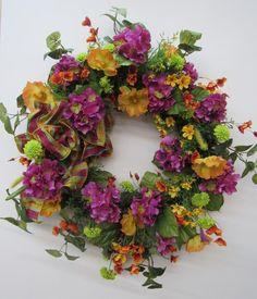 110 Silk Flower Wreaths From Aprils Garden Ideas Silk Flower Wreaths Silk Flowers Wreaths