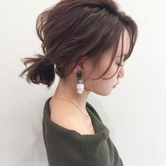 Pin on Hair 私たちに従ってください Pin on Hair 私たちに従ってください Messy Hairstyles, Pretty Hairstyles, Wedding Hairstyles, Natural Hairstyles, Medium Hair Styles, Curly Hair Styles, Short Hair Ponytail, Hair Arrange, Hair Setting