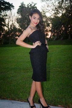 Audrey Hepburn peplum black strapless dress. White House Black Market.   stylishlyinlove.blogspot.com