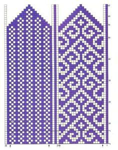 scheme for the women's mittens ornament