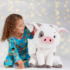 Bring Moana's loveable sidekick home with our super-snuggly Pua soft toy. With his floppy ears and endearing expression, there's no doubt that Pua is the cutest pot-belly pig in all the Pacific!