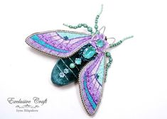 Bead Embroidery Jewelry, Embroidery Thread, Beaded Embroidery, Beaded Brooch, Handmade Beads, Seed Beads, Swarovski Crystals, Creatures, Velvet