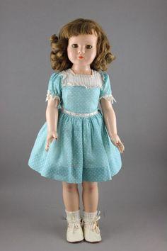 """Ella Dewees Cochran (1892-1991),   Effanbee F & B Dolls (Fleischaker & Baum, USA) (fl.1910-1939) —  20"""" Composition 'Anne Shirley' Doll from the """"American Children"""" Series, Sleep-eye Version,  , 1938  (564×846)"""