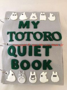 Such a cute felting project for keeping the kiddos busy! Totoro Quiet Book pattern by MarissaMadeIt