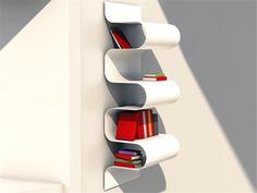 Wall-mounted aluminium bookcase Aluminium bookcase - VIDAME CREATION