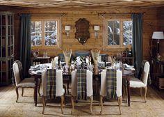 Chalet Dining Room Pinned BY High Billinghurst Farm Wedding Venue Transitional Living Rooms, Transitional Decor, Chalet Design, House Design, Chalet Chic, Chalet Style, Ski Chalet, Ski Lodge Decor, Chalet Interior