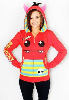 monster hoodie <3