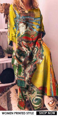 Over 50 Womens Fashion, Fast Fashion, Boho Fashion, Fashion Outfits, Beautiful Outfits, Cool Outfits, Denim Shirt Dress, Trendy Clothes For Women, Retro Dress