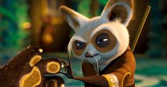 Shifu gets into fighting stance Kung Fu Panda, Master Shifu, Disney And More, Dreamworks, Cartoons, Character Design, Bird, Funny, Cute