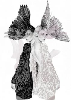 Gemini by Samantha Wills Zodiac Collection illustration by Kelly Smith