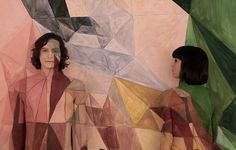 Artistic process: Painting Gotye singer Wally De Backer (left) and Kimbra (right) for the video took 23 hours