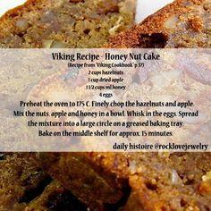Viking Recipe on RockLove Jewelry's Facebook: Honey Nut Bread